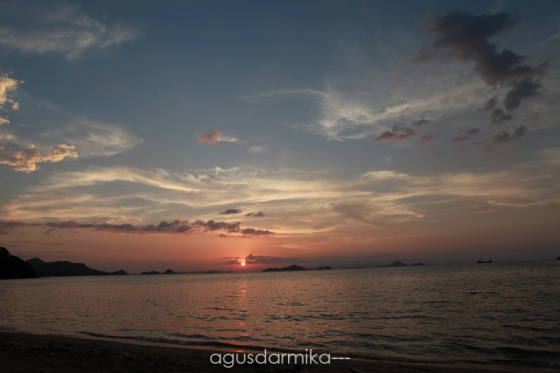 ----- Sunset at Pede Beach
